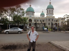 Me, in front of the big church