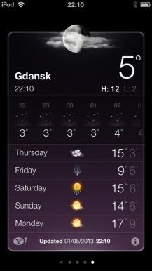 Gdansk weather forecast (5 degrees, rain then sun sun sun ahead)