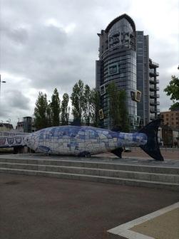 Big fish sculpture in Belfast