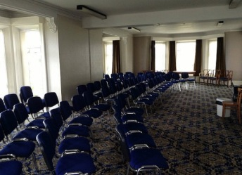 Conference room with chairs laid out