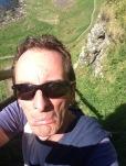 Me, pulling a face at a steep climb