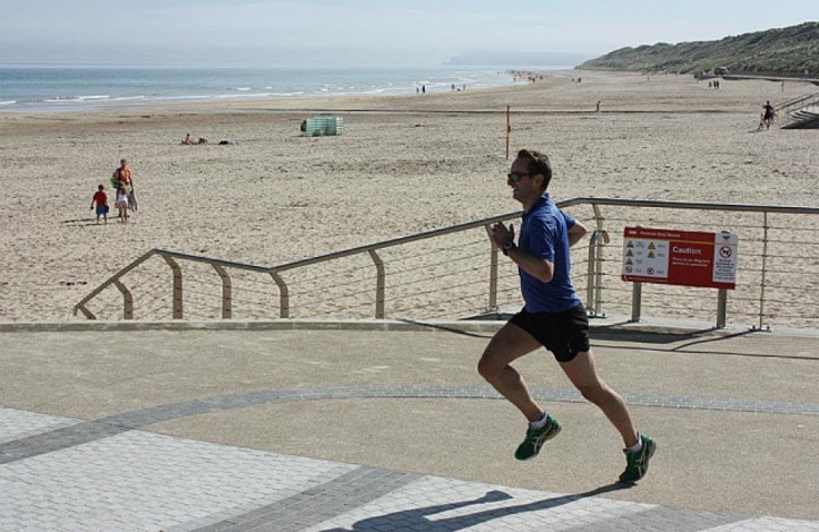 Me, running Portrush parkrun