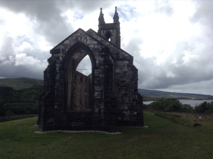 An abandoned church in Poisoned Glen
