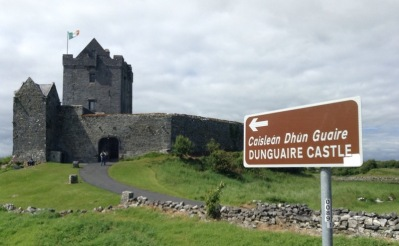 Sign up to Dunguaire castle, which is small - a fortified home