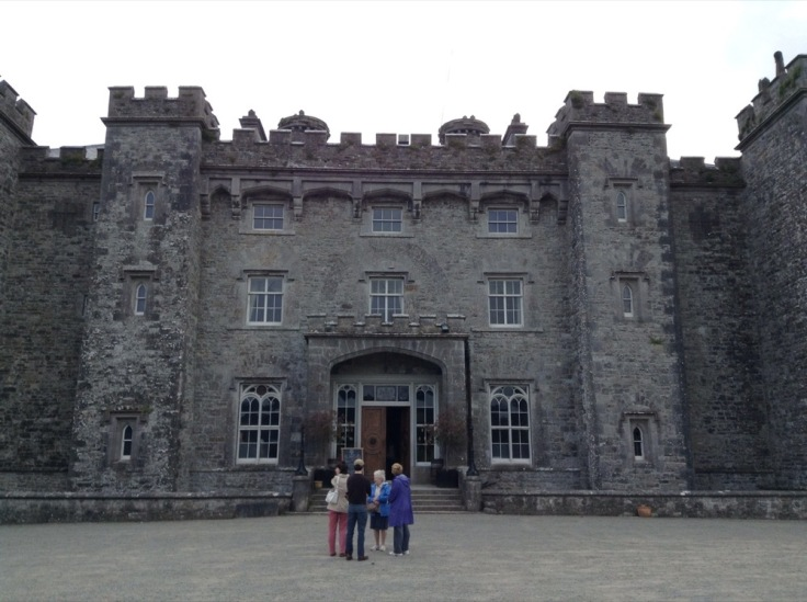 Imposing front of Slane Castle