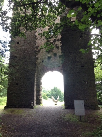 A folly. Two towers over an arch
