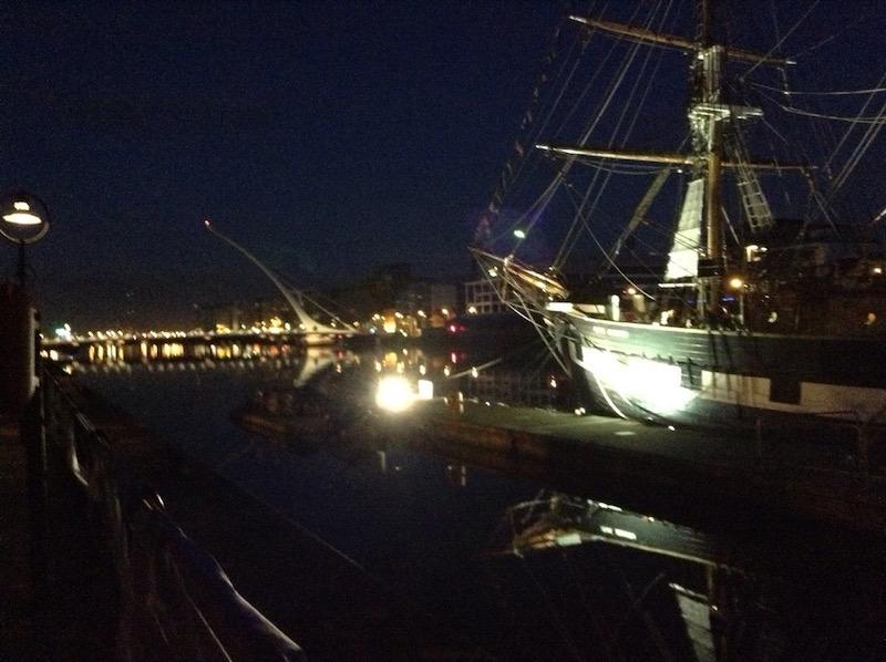 Jeannie Johnston, ship, in the dark of night
