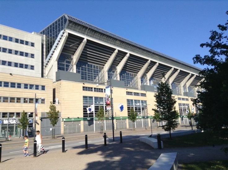 One side of FC Copenhagen's ground from outside
