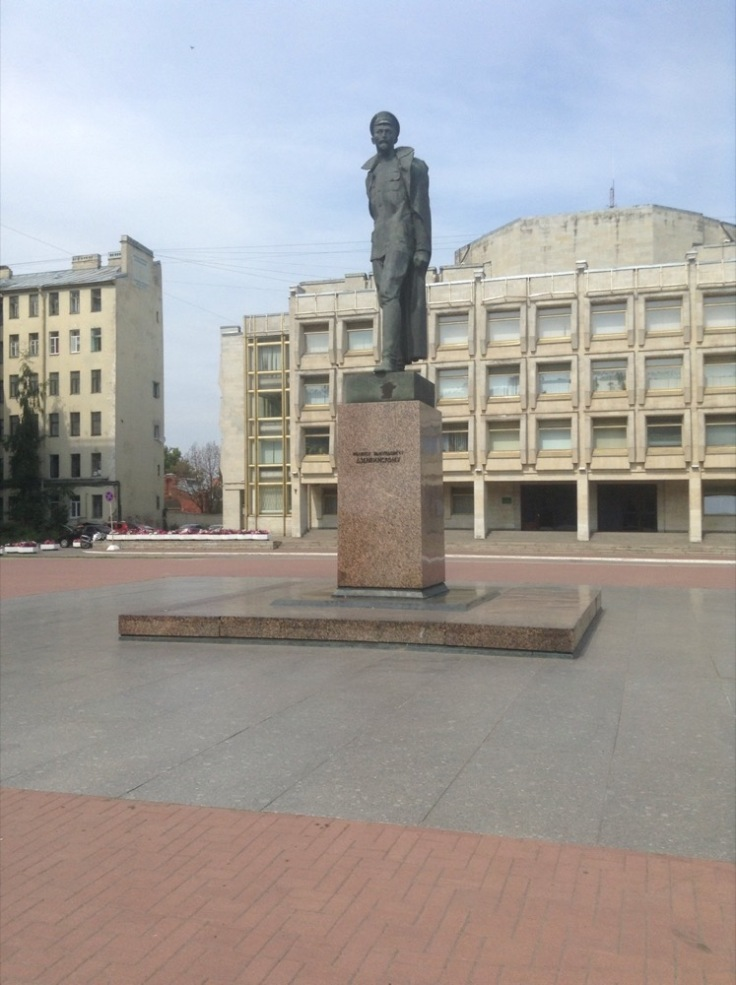 Statue of Dzherhinsky in a square