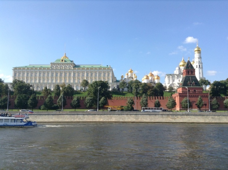 Presidential Palace seem from across the river, Moscow