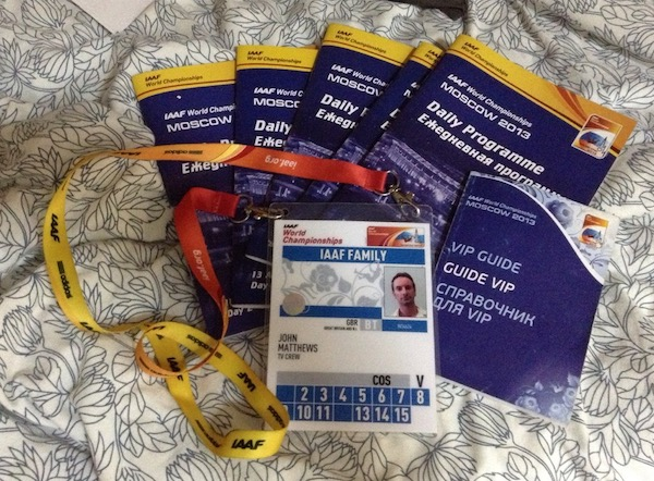 Official pass and daily programmes