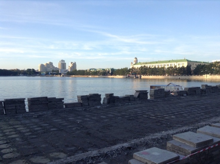 Lake in the middle of Yekaterinburg