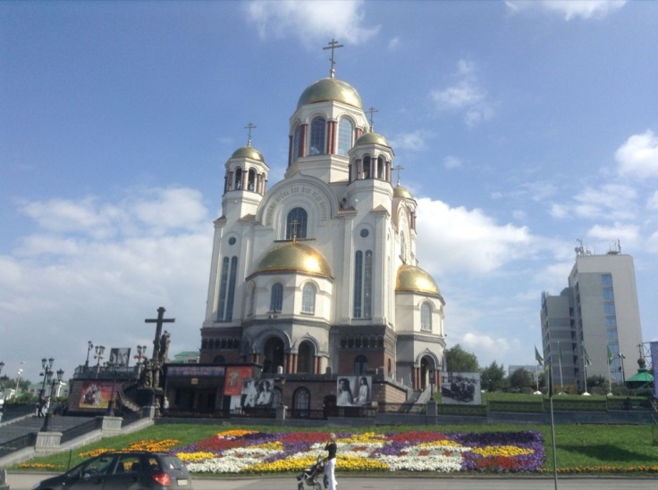The Church of Blood, white with golden decoration