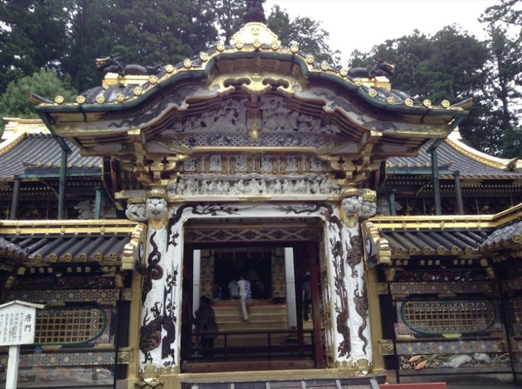 Ornate gateway of a temple, gilded  edges everywhere