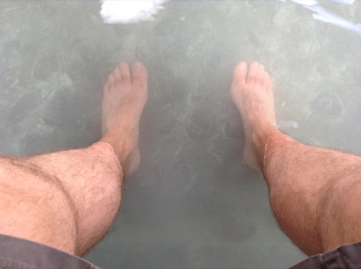 My feet in the hot spring