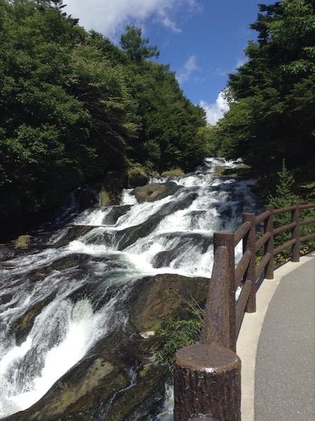 Ryuzu Falls, a cascading fall down rocky 'steps'
