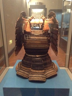 Ancient Japanse armour. Made of bamboo, perhaps