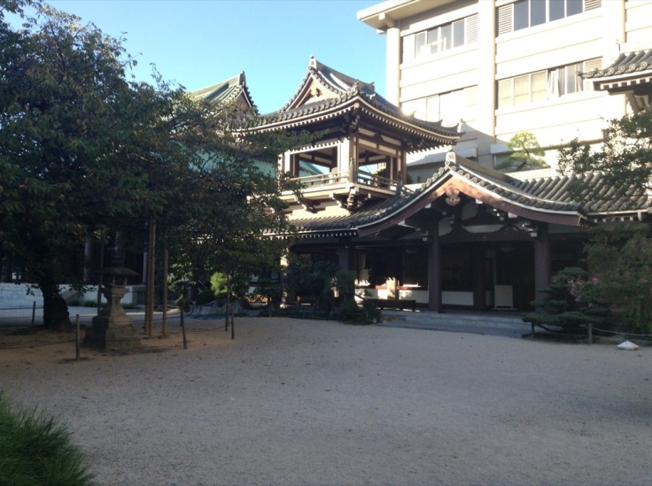 Japanese temple with a courtyard