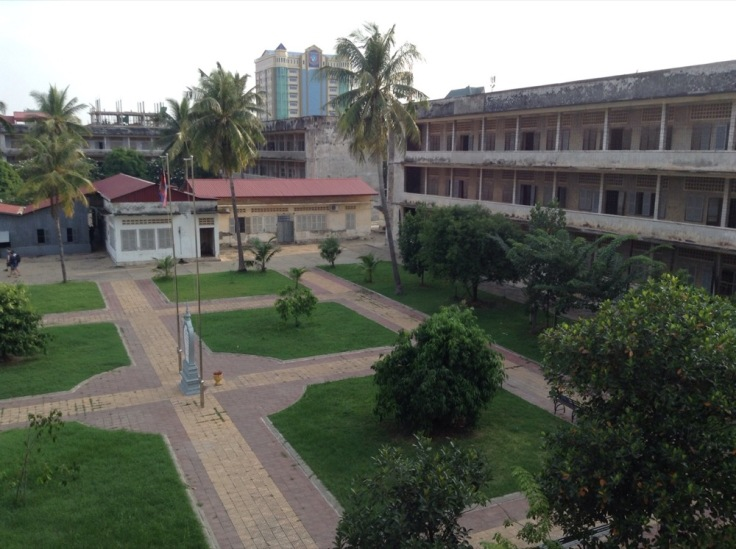 A courtyard in an old school - the genocide museum