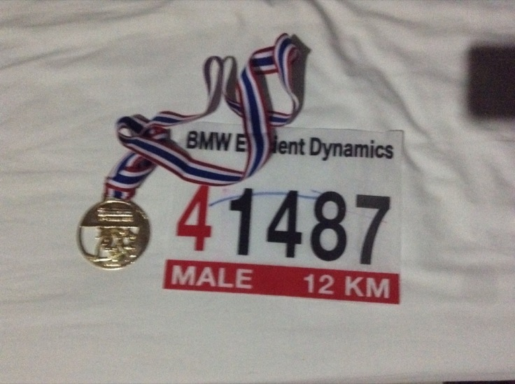 My race number, 41487, and medal