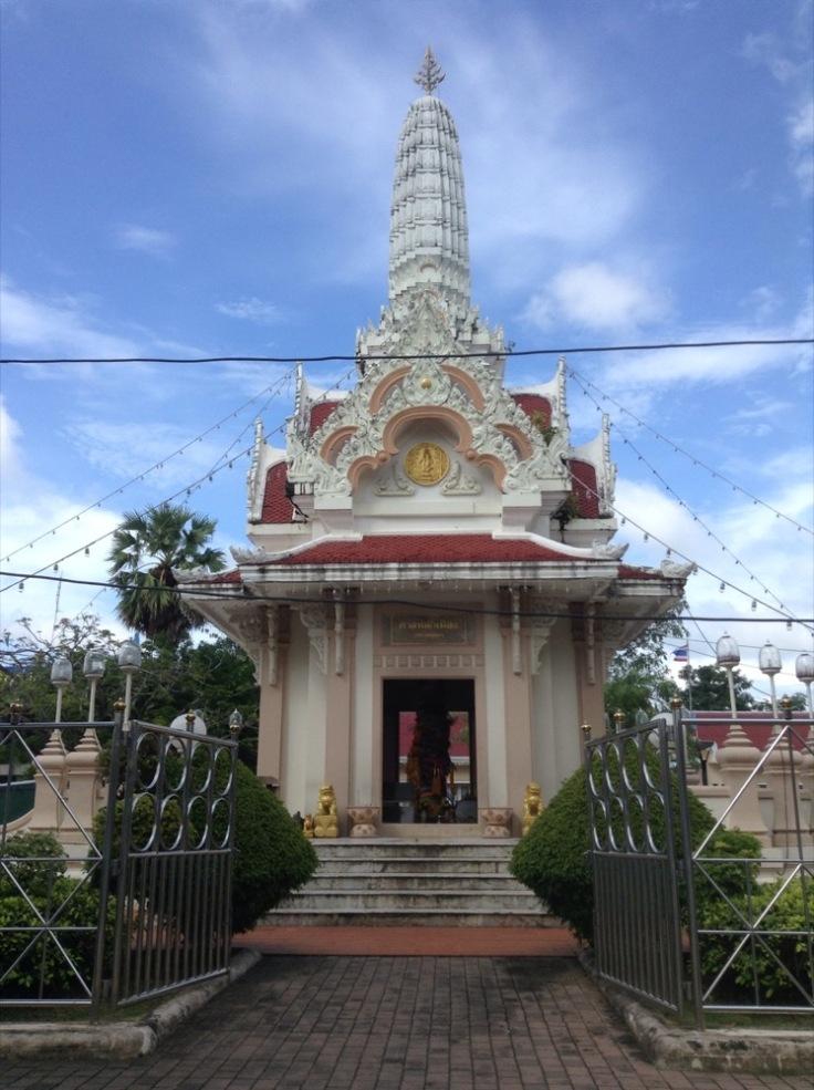 City Pillar Shrine, under bright blue skies