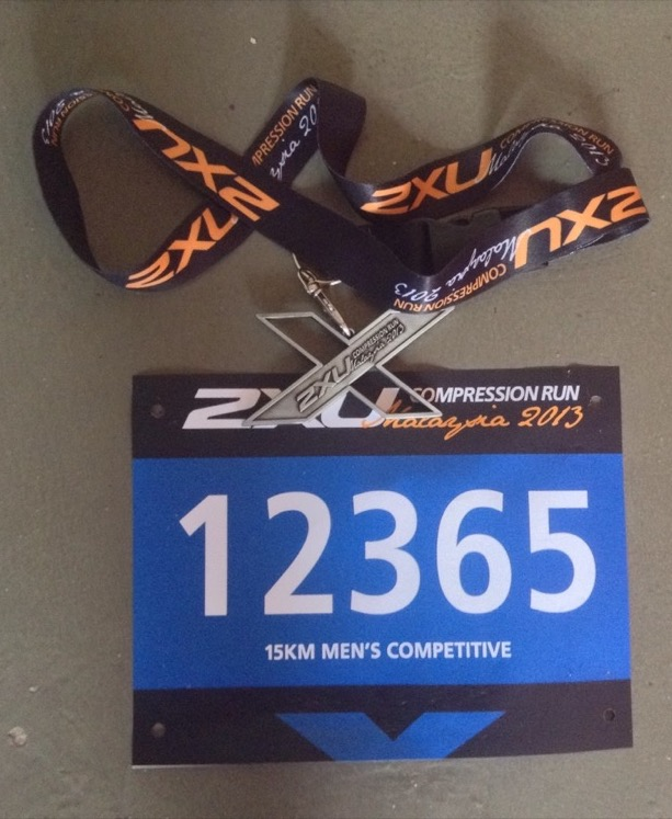 Medal and my race number