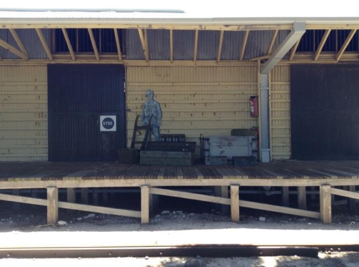 Unused train platform, turned into an exhibit of itself