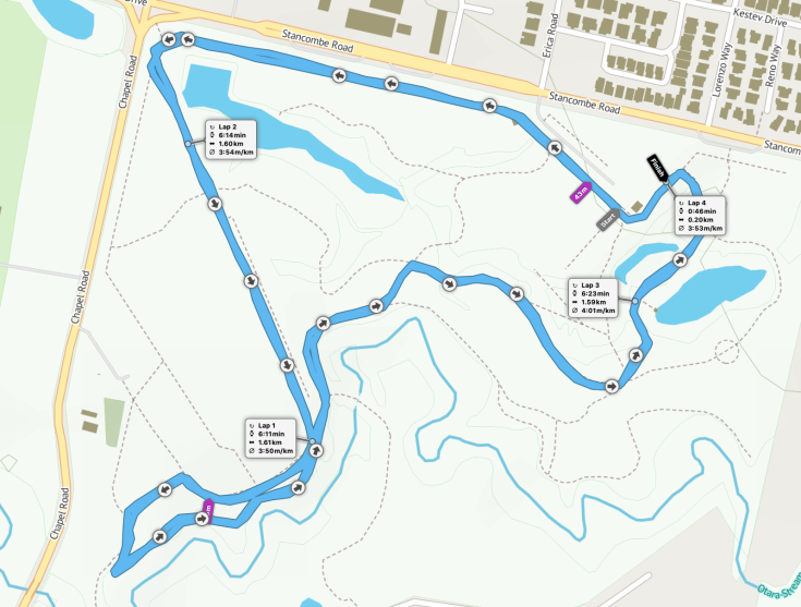 Barry Curtis parkrun route