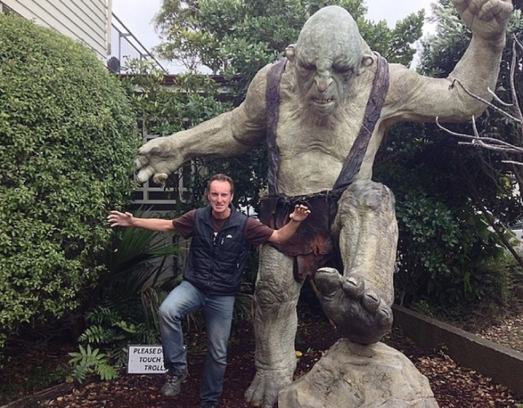 Me, posing in front of much larger troll (fibreglass)