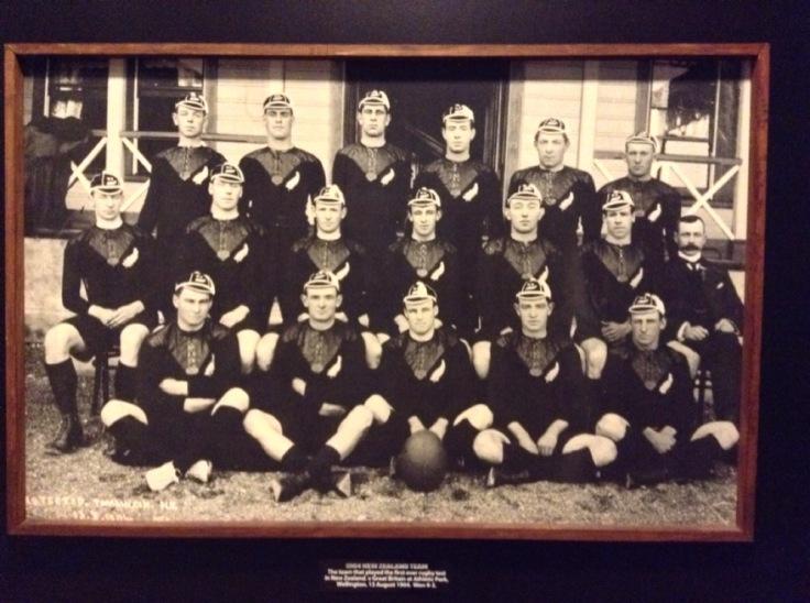 A black & white NZ team photo