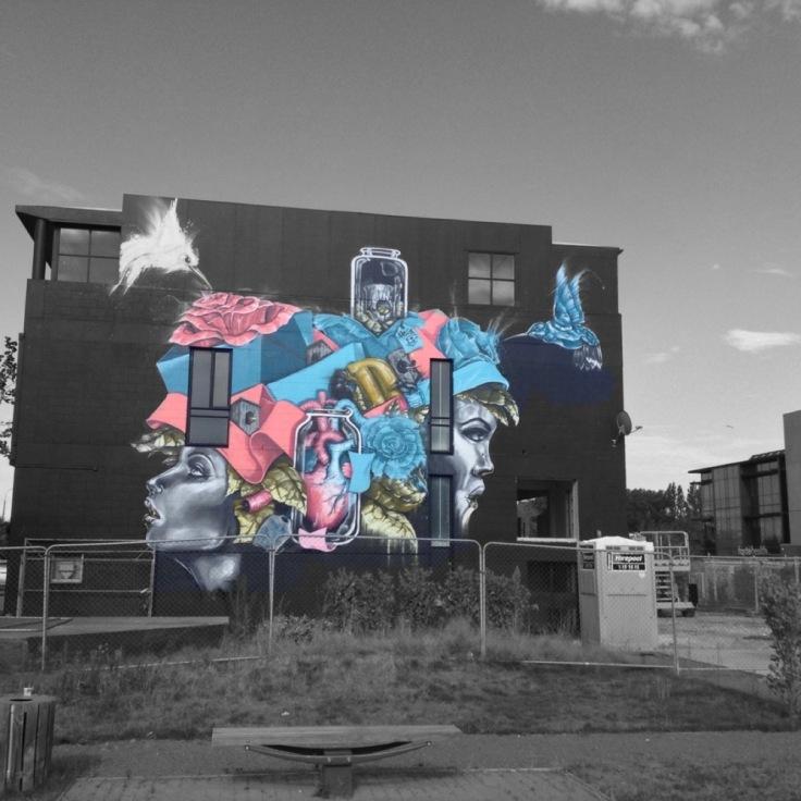 Colourful wall mural