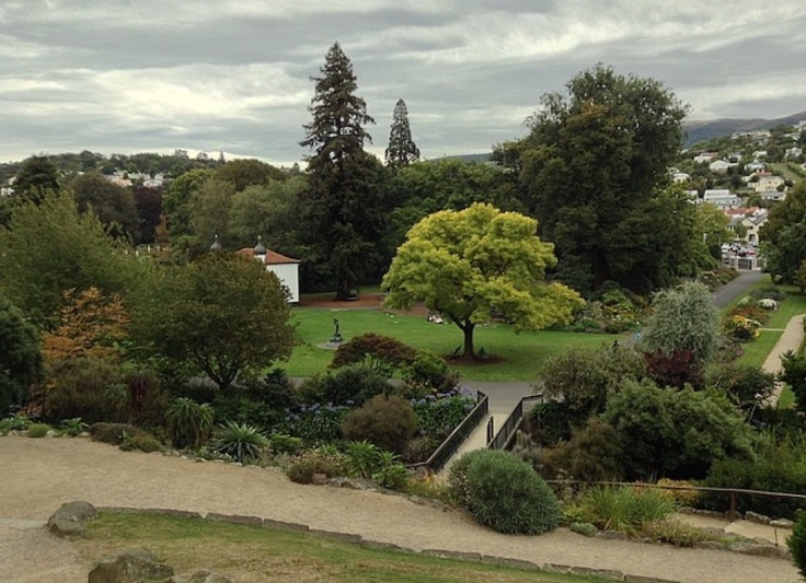 Botanical Gardens, masses of trees and a well-tended lawn