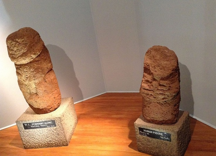 Stone statues from Pitcairn Island