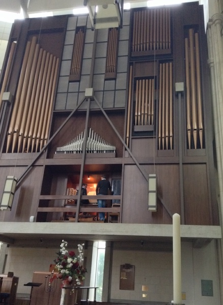 Huge pipes on the Cathedral's Organ