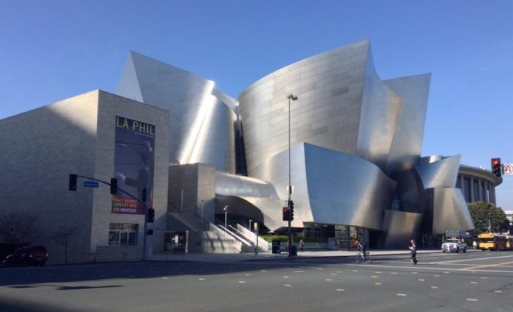 Angular silver lines of the Walt Disney Theatre