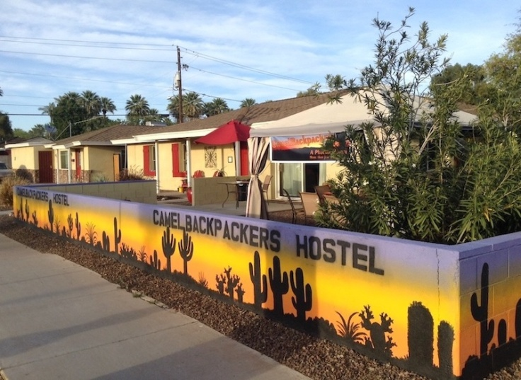 Camel backpackers hostel, with colourful