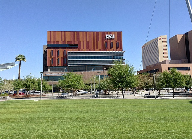 Multi-brown coloured building for Arizona Statue University's Downtown campus