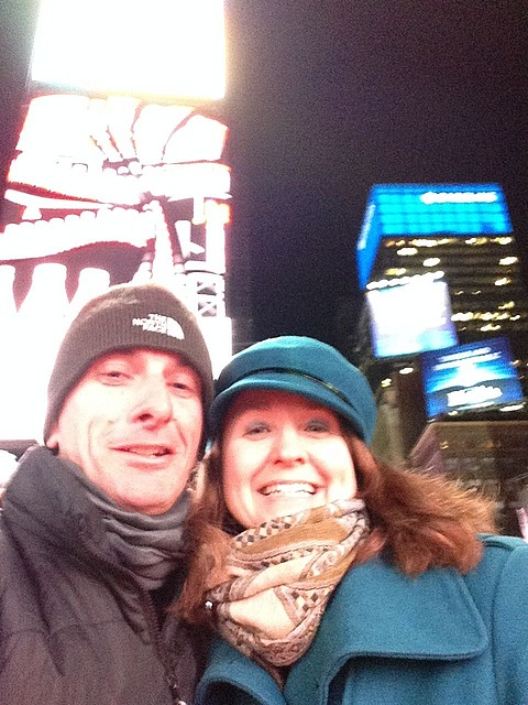 Times Square and my host