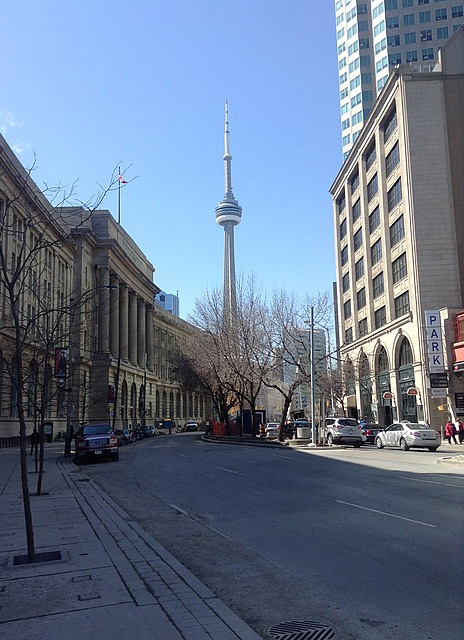 Another view of the CN tower, from a different street