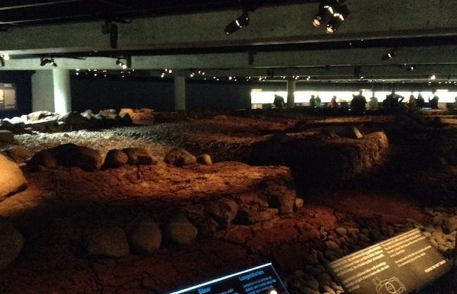An indoor exhibition of archaeological investigation into early settlements