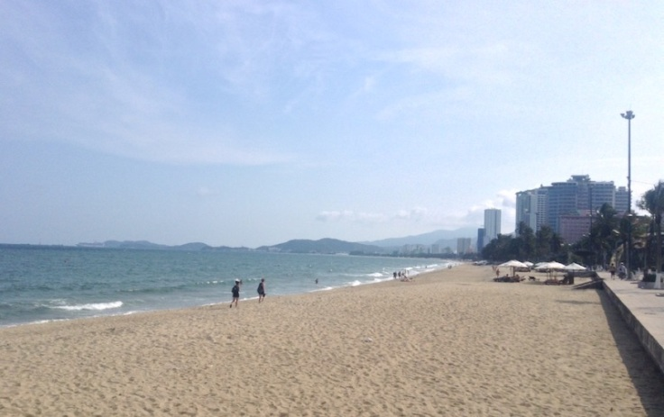Nha Trang beach, super hot, but flawless sand and water