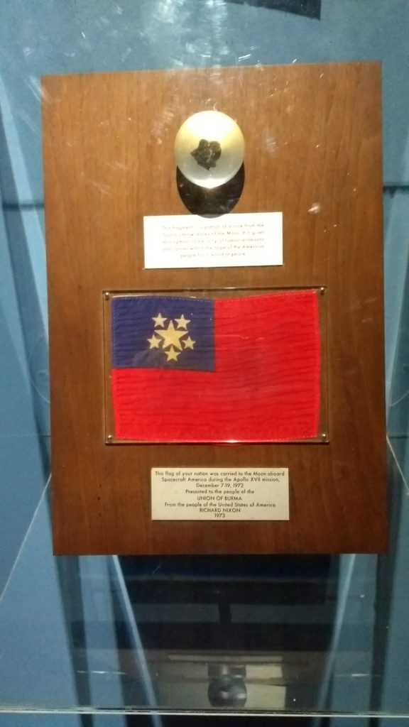Myanmar flag back from space
