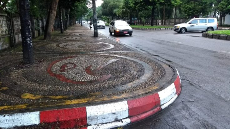 Decorated pavements