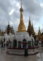White temple with golden spire