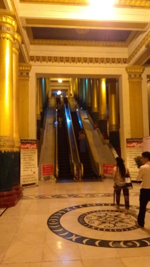 Escalators at the West Entrance to the Pagoda
