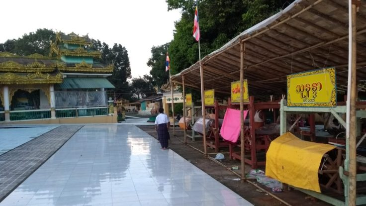 Looms for weaving religious offerings