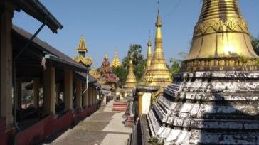 Gilded pagodas