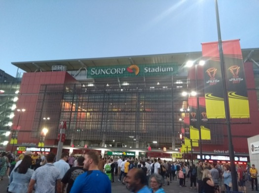 Suncorp/Brisbane Stadium seen from outside