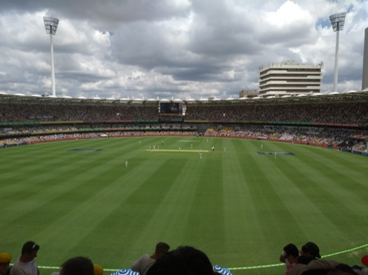 View of the 1st Test at the Gabba