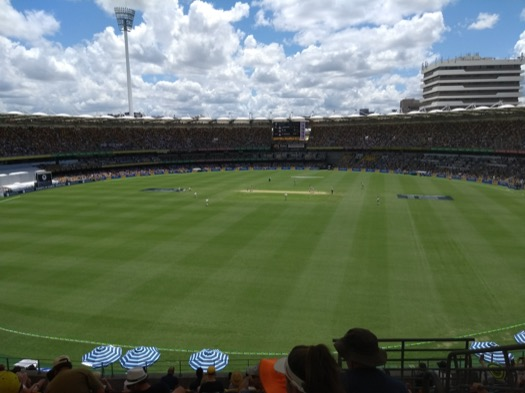 Gabba view before play starts